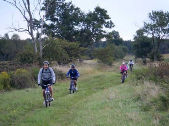 Riding through Bronte Park