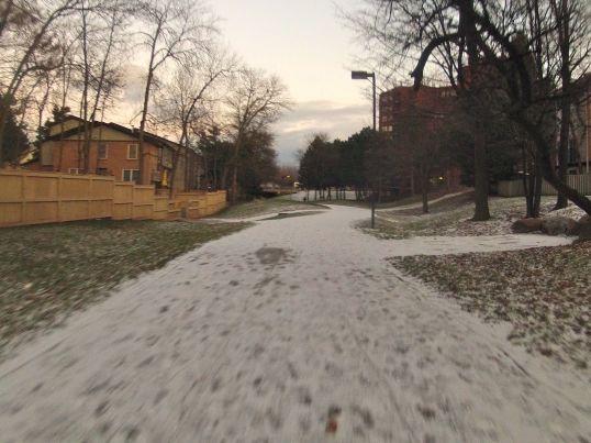 Winter Mississauga Bike Path